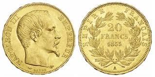 BULLION FRANCE NAPOLEON III GOLD 20 FRANCS