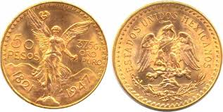 BULLION MEXICO GOLD 50 PESOS