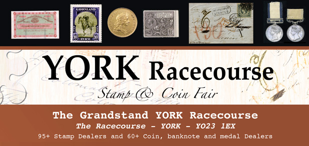 Numisor SA at The York Racecourse 2016 Stamp & Coin Fair