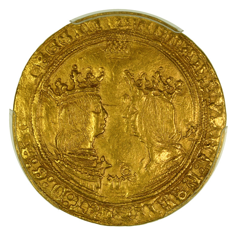 Coin gold Spain